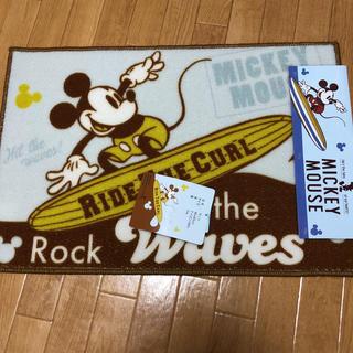 ディズニー(Disney)のサーフミッキー  マット(玄関マット)