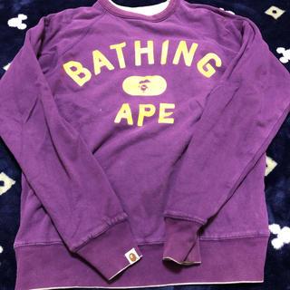 アベイシングエイプ(A BATHING APE)のA BATHING APE  トレーナー(スウェット)
