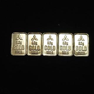 三菱 - ■純金■三菱マテリアル  インゴット5枚セット