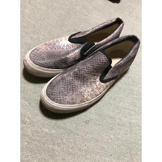 ジーユー(GU)のスリッポン 革靴スニーカー スニーカー 靴  蛇柄シューズ GU(スリッポン/モカシン)