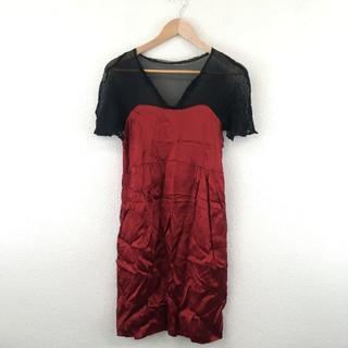 66ae5a8275e19 トーガ(TOGA)の美品 トーガ プルラ ワンピース 赤 レディース(ひざ丈ワンピース