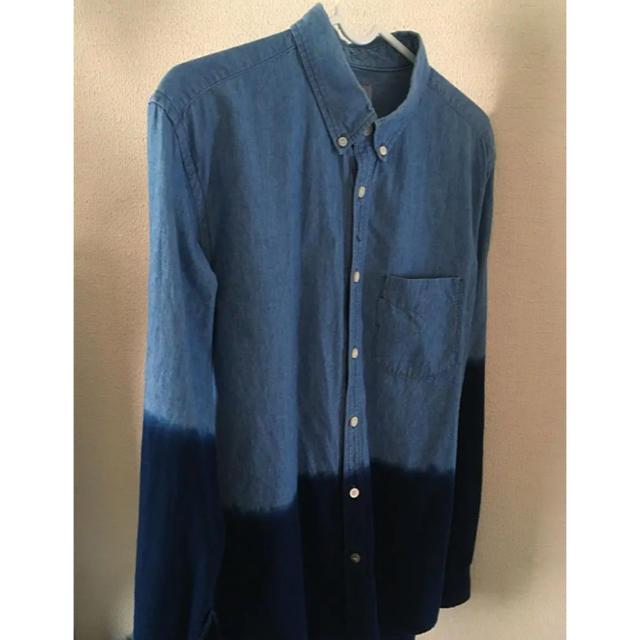 DELUXE(デラックス)のdeluxe ツートンカラーデニムシャツ メンズのトップス(シャツ)の商品写真