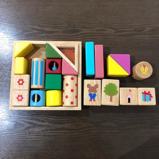 ミキハウス(mikihouse)の★けいちゃんさま専用★ミキハウスの積み木と他の積み木のセット(積み木/ブロック)