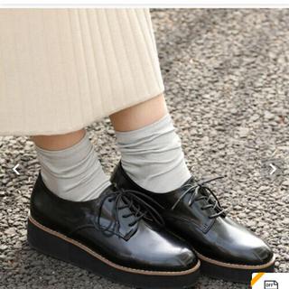 ジュゼ(Juze)の売り切り希望 プラットフォームレースアップシューズ(ローファー/革靴)