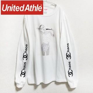 ジィヒステリックトリプルエックス(Thee Hysteric XXX)のKate Moss / United Athle プリント ロングスリーブT 白(Tシャツ/カットソー(七分/長袖))