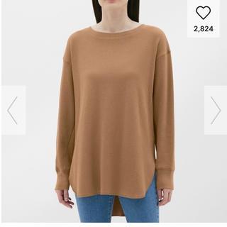 ジーユー(GU)のハニカムロングスリーブTシャツ  ワッフルT(Tシャツ(長袖/七分))
