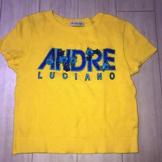 アンドレルチアーノ(ANDRE LUCIANO)のアンドレルチアーノ ロゴ刺繍ワッペン付きサマーニット(ニット/セーター)