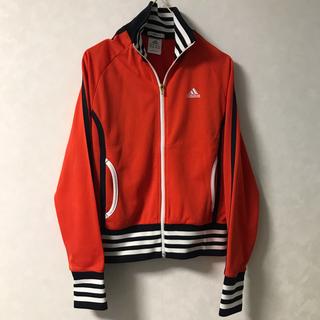 アディダス(adidas)のアディダス ジャケット S オレンジと黒白(ウェア)