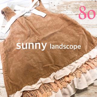 サニーランドスケープ(SunnyLandscape)のベロア調 ジャンパースカート(スカート)
