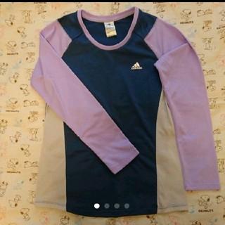 アディダス(adidas)のadidas アディダス 長袖 Tシャツ パープル ネイビー レディース OT(ウェア)