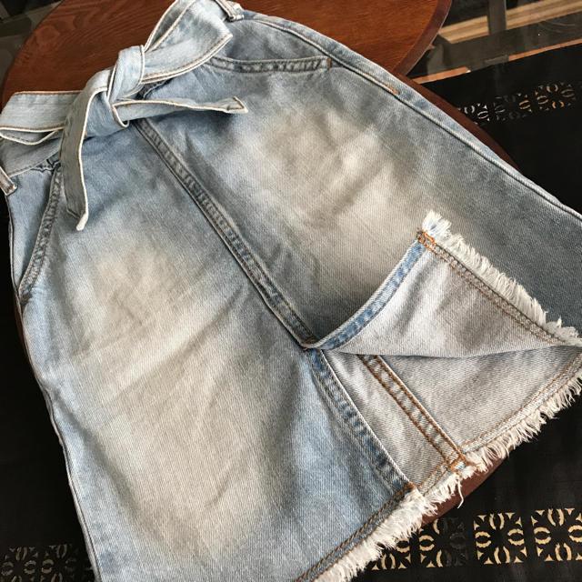 GU(ジーユー)のGU  kids デニムスカート size110 キッズ/ベビー/マタニティのキッズ服 女の子用(90cm~)(スカート)の商品写真