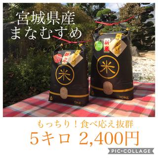 ☆うったん☆様専用☆宮城県産まなすむめ5キロ(米/穀物)
