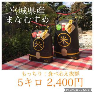大特価!!大粒☆もっちり☆宮城県産まなすむめ5キロ(米/穀物)