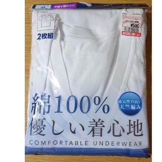 シマムラ(しまむら)の【新品未使用】男性肌着半袖V首シャツMサイズ2枚組(Tシャツ/カットソー(半袖/袖なし))