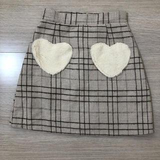 エブリン(evelyn)のevelyn♡ハートポケットスカート(ミニスカート)