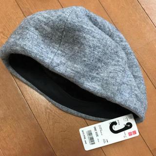 ユニクロ(UNIQLO)のユニクロ ウールベレー グレー(ハンチング/ベレー帽)