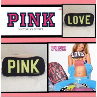 ヴィクトリアズシークレット(Victoria's Secret)の新品未使用 Victoria's Secret  PINK デニム ロゴポーチ(ポーチ)