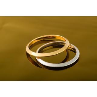 ティファニー(Tiffany & Co.)のTIFFANY&Co バンドペアリング PT950/750YG 品番B7-292(リング(指輪))