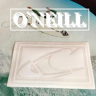 オニール(O'NEILL)のO'NEILLオニールUS限定ニューアイコンデザインダイカットステッカーwht(サーフィン)