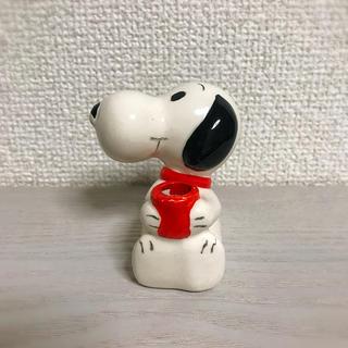 スヌーピー(SNOOPY)のビンテージ スヌーピー フィギュア 陶器 置物(アメコミ)