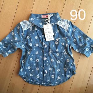 シマムラ(しまむら)のデニムシャツ 90(Tシャツ/カットソー)
