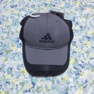 アディダス(adidas)のアディダスジュニアサイズキャップグレーアンドブラック(帽子)