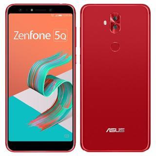 エイスース(ASUS)のASUS ZenFone 5Qルージュレッド[ZC600KL-RD64S4](スマートフォン本体)