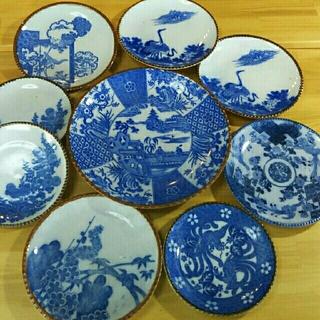 アンティーク お得なレトロなイゲ皿9枚セット(陶芸)