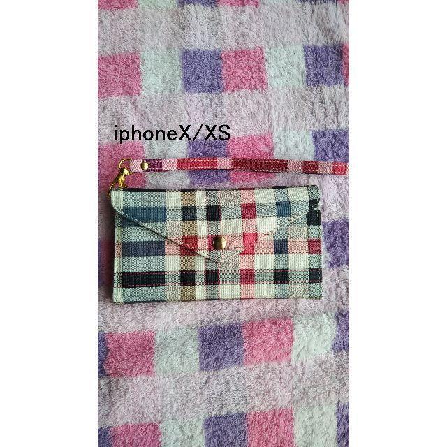 iphone7 ケース 手帳型 | アイフォンX/アイフォンXS 高級 チェック グレイ  ③の通販 by らん|ラクマ