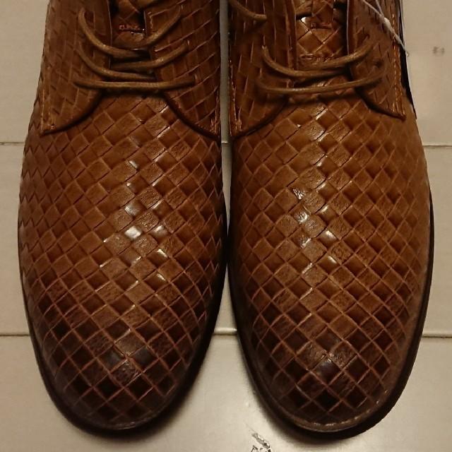 TETE HOMME(テットオム)の★テットオム★メッシュ柄ショートブーツ新品★size27★キャメル★ メンズの靴/シューズ(ブーツ)の商品写真