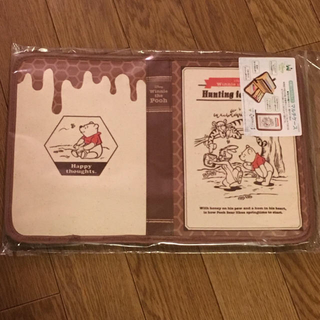クマノプーサン(くまのプーさん)の♦︎新品♦︎ディズニー  マルチケース  片面ジャバラ式  くまのプーさん(母子手帳ケース)