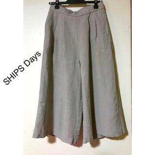 シップス(SHIPS)のSHIPS Days【シップス デイズ】リネンパンツ  ガウチョパンツ(カジュアルパンツ)