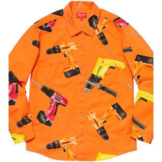 シュプリーム(Supreme)のsupreme  Drills Work Shirt orange(シャツ)