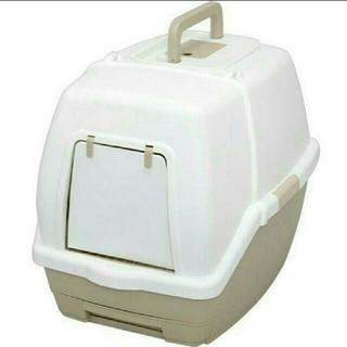 アイリスオーヤマ(アイリスオーヤマ)の送料込みアイリスオーヤマ フード付きネコトイレTIO-530FTホワイトベージュ(猫)