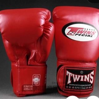【新品】TWINS ボクシンググローブ レッド 8オンス(ボクシング)