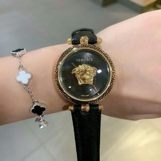 ヴェルサーチ(VERSACE)のVERSACE ヴェルサーチ レディース ファッション 腕時計 黒(腕時計)
