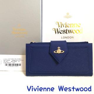 ヴィヴィアンウエストウッド(Vivienne Westwood)のヴィヴィアンウエストウッド 財布 正規品 新品 ブルー 縦型 定期入れ(財布)