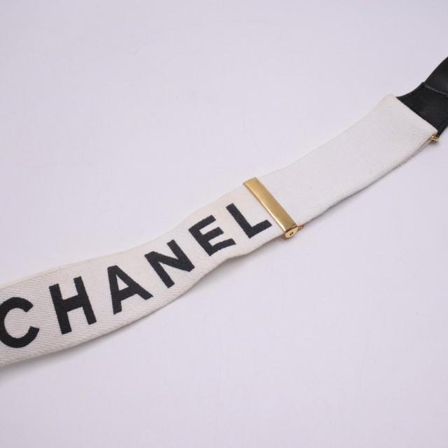 e326e7791428 CHANEL(シャネル)のシャネル サスペンダー ヴィンテージ ホワイト ブラック 箱付き 中古 正規 レディースの