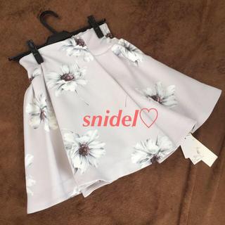 スナイデル(snidel)の新品未使用♡マーガレットプリントスカート(ミニスカート)