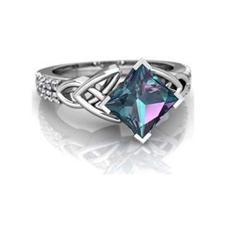 AAAランク ダイヤモンドcz オーロラ リング 指輪(リング(指輪))