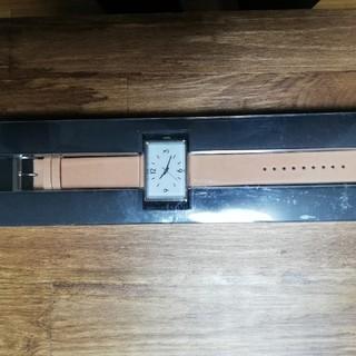 ムジルシリョウヒン(MUJI (無印良品))の無印良品駅の時計大ベージュ新品(腕時計(アナログ))