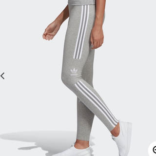 アディダス(adidas)の新品 adidas レギンス L サイズスパッツ グレー 送料無料(レギンス/スパッツ)