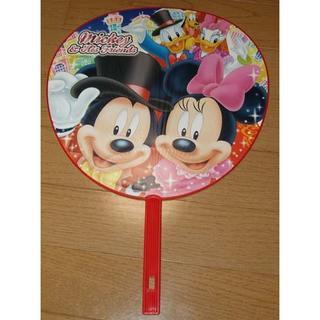 ディズニー(Disney)の【未使用&非売品】ミッキー(DISNEY:ディズニー)巨大うちわ(その他)