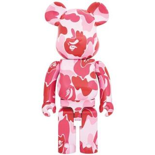 A BATHING APE - 限定品 ベアブリック BE@RBRICK ABC CAMO 1000% PINK