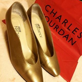 シャルルジョルダン(CHARLES JOURDAN)のシャルルジョルダン!シャンパンゴールド!Made inJapan(ハイヒール/パンプス)