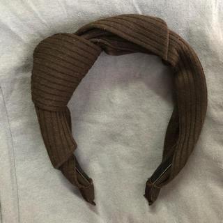 ジーユー(GU)のヘアバンド カチューシャ 黒 韓国(カチューシャ)
