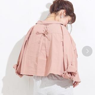 ナチュラルクチュール(natural couture)のnatural  couture 後ろレースアップミリタリーシャツブルゾン(ブルゾン)