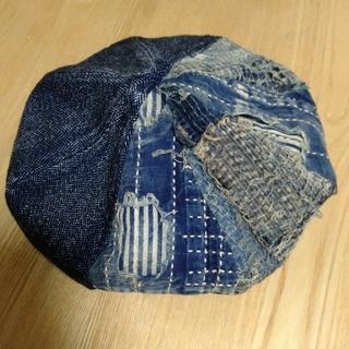 キャピタル(KAPITAL)のBORO×IDGツィード 2TONE ベレー帽  (ハンチング/ベレー帽)