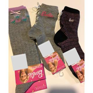 バービー(Barbie)の新品 Barbie 靴下 19〜24センチ(靴下/タイツ)