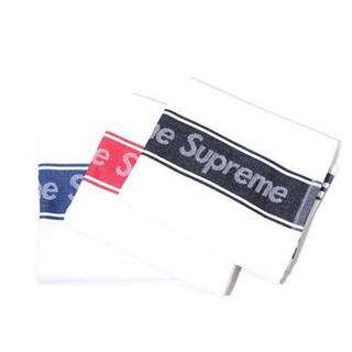 シュプリーム(Supreme)の新品未使用! 2019SS SUPREME  ディッシュタオル 白 3枚セット(タオル/バス用品)